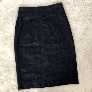 Halogen Denim Pencil skirt, Size 6